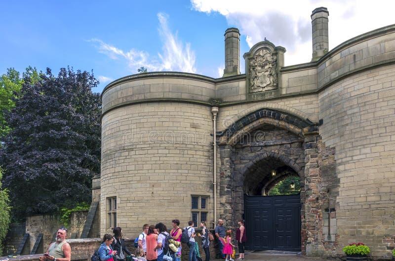 诺丁汉城堡 库存照片