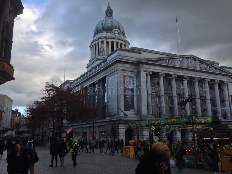 诺丁汉委员会家的市政厅,英国 免版税库存照片