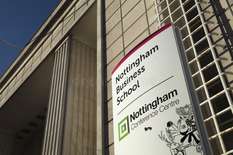 诺丁汉,诺丁汉郡,英国:2018年10月:诺丁汉Busine 图库摄影