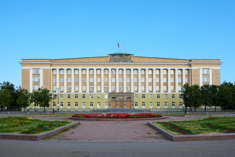 诺夫哥罗德伟大,办公楼 免版税库存图片