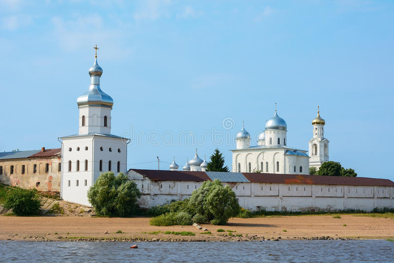 诺夫哥罗德伟大,圣乔治修道院 库存图片