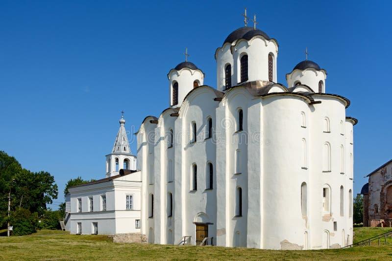 诺夫哥罗德伟大,圣尼古拉斯大教堂 免版税库存照片