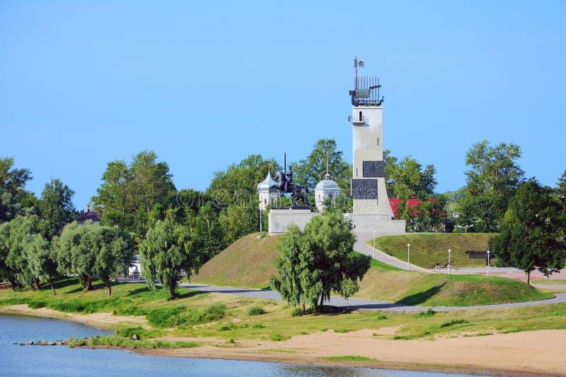 诺夫哥罗德伟大,胜利纪念碑 免版税库存图片