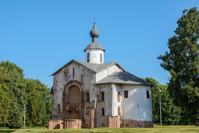 诺夫哥罗德伟大, Paraskeva Pyatnitsa教会  免版税库存照片