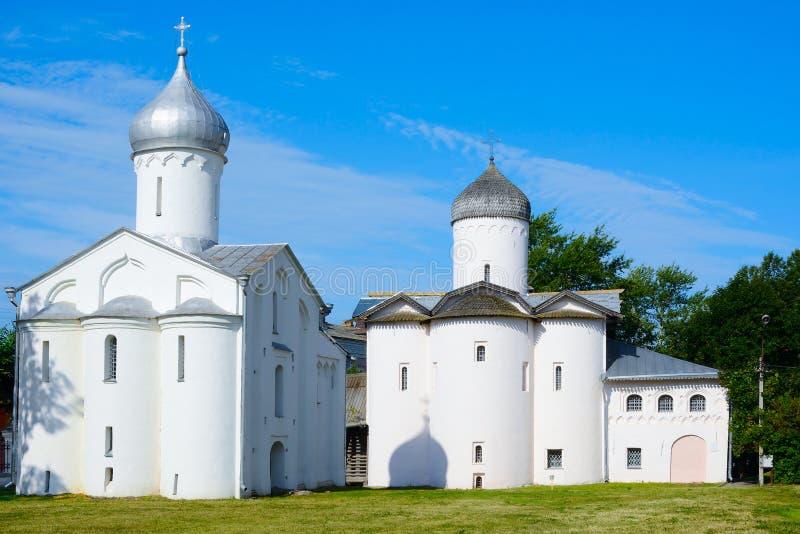 诺夫哥罗德伟大, Yarosla的教会 免版税库存图片