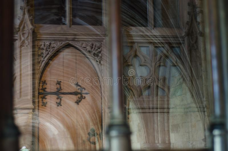 诺威治大教堂的内部,英国 免版税库存照片