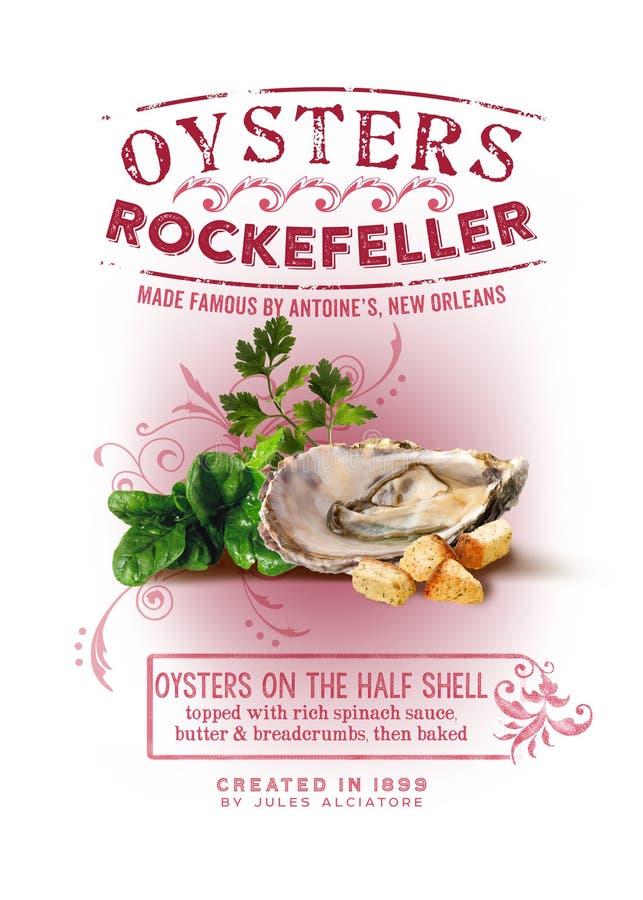 诺拉汇集牡蛎洛克菲勒背景 免版税库存图片
