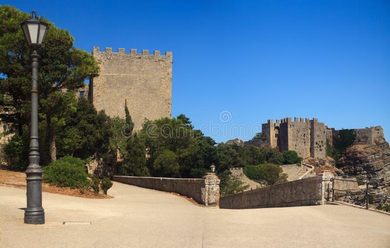 诺曼底城堡和Venere城堡,埃里切 图库摄影