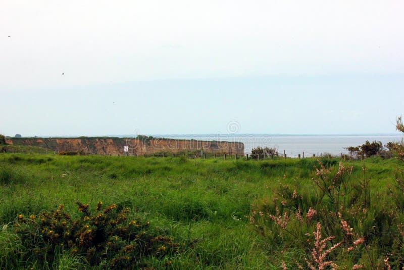 诺曼底的海岸在法国 库存照片
