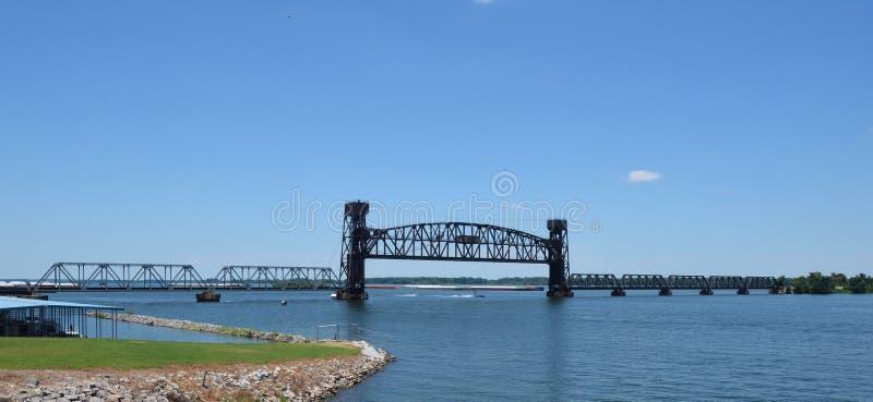 诺福克南部的田纳西河桥梁 库存照片