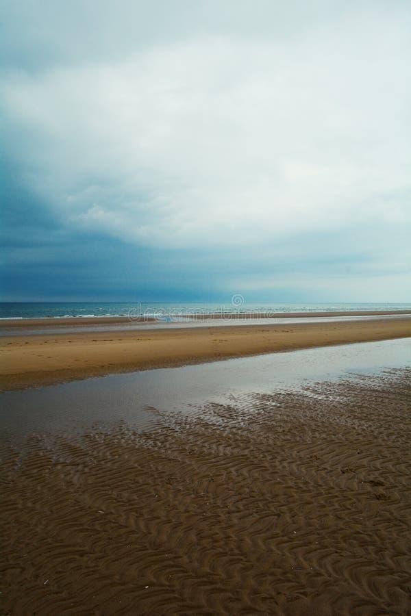 诺福克海岸,北海, Holkham海滩,英国长的沙滩  图库摄影