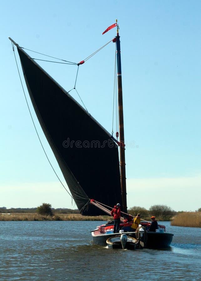 诺福克Broads小舟摆渡船 库存照片