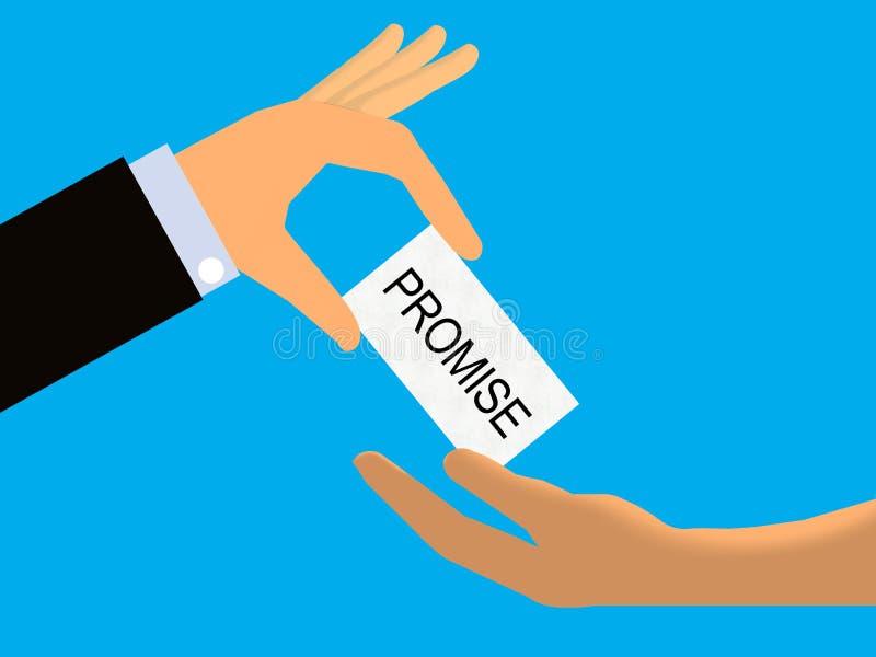 诺言或期票 向量例证