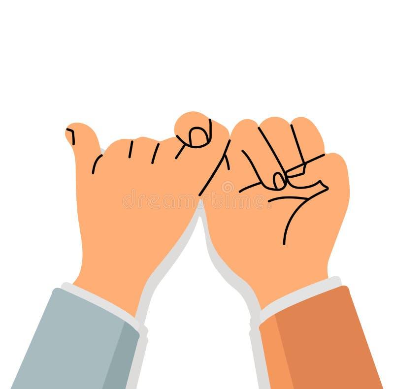 诺言手签署平的设计 库存例证