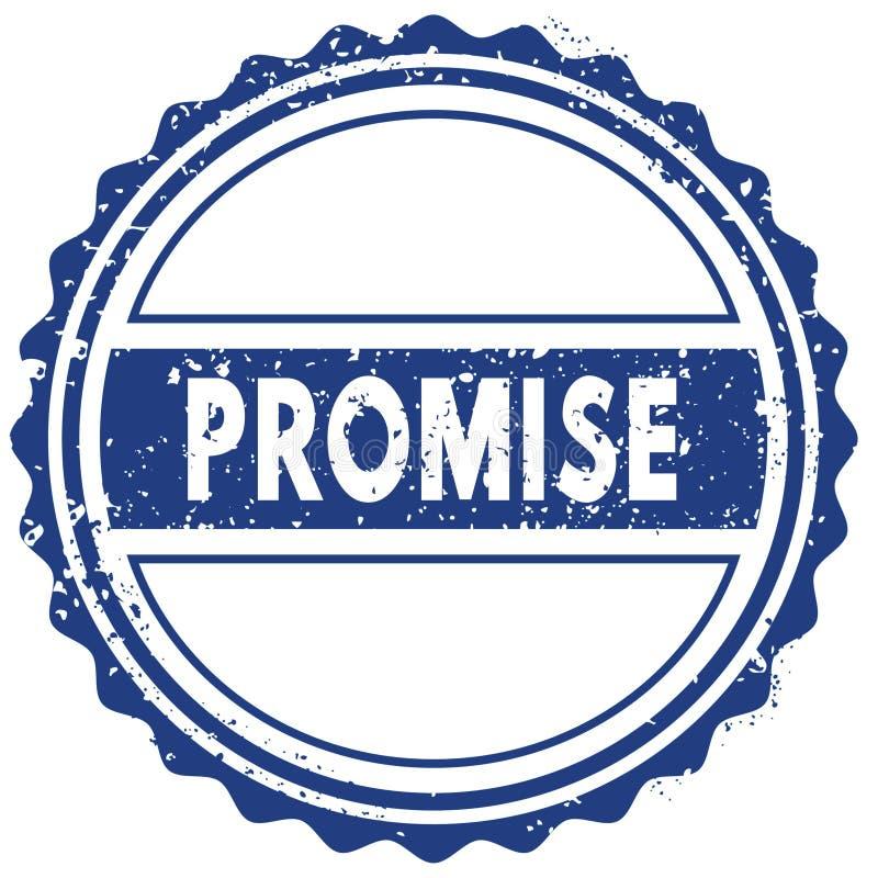 诺言邮票 贴纸 密封 蓝色圆的难看的东西葡萄酒丝带标志 库存例证
