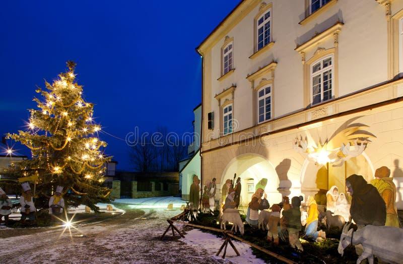 诺韦梅斯托在圣诞节的nad Metuji,捷克 库存照片