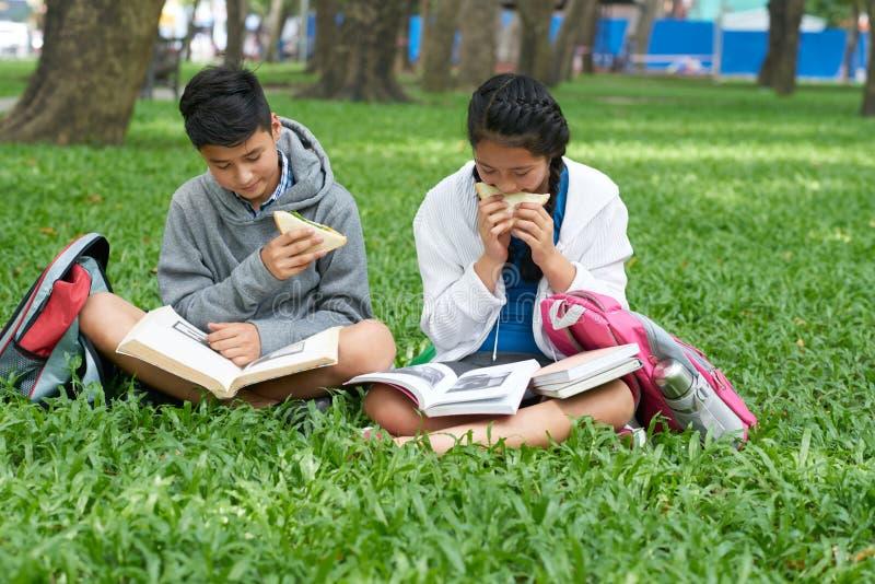 读书孩子 免版税库存照片