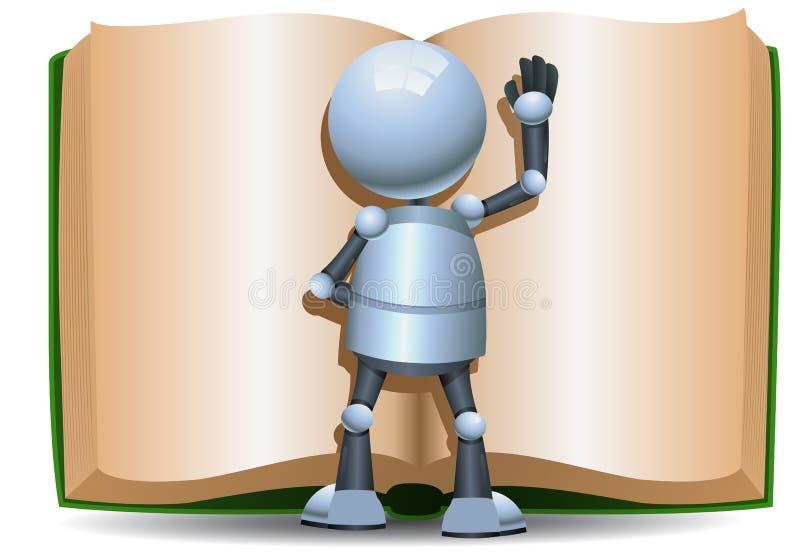 读大书的一点机器人 库存例证