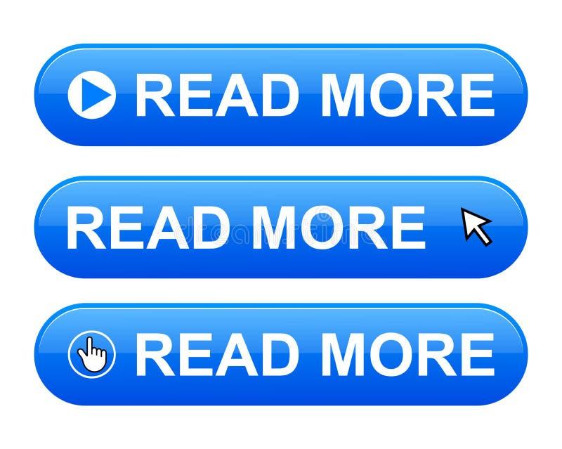读更多按钮 向量例证