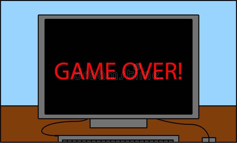 读比赛的个人计算机屏幕! 向量例证