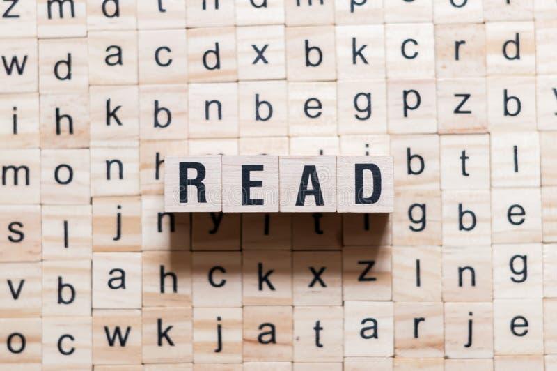 读的词概念 免版税库存照片