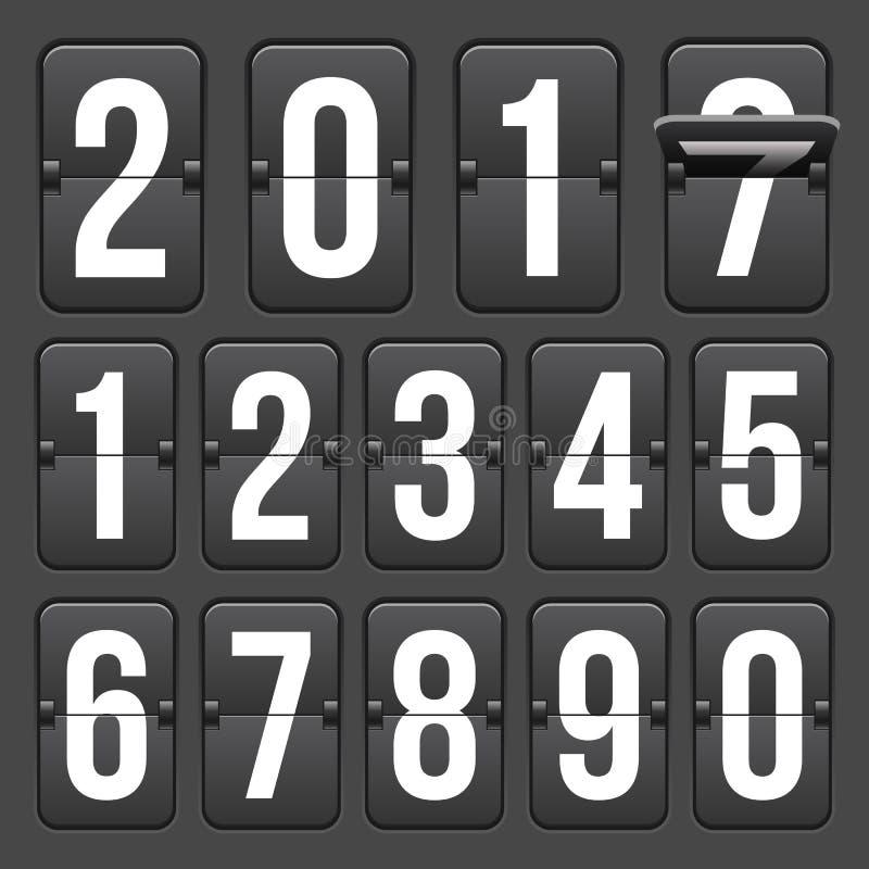 读秒定时器的创造性的传染媒介例证在背景用不同的数字的隔绝的 时钟计数器艺术设计 摘要 皇族释放例证