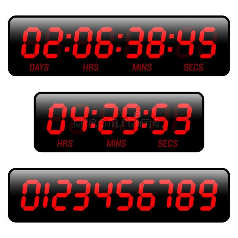 读秒定时器 向量例证