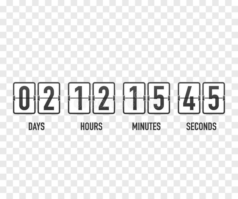 读秒时钟计数器定时器 UI app数字式计数下来盘旋委员会米与圈子时间圆形图 皇族释放例证