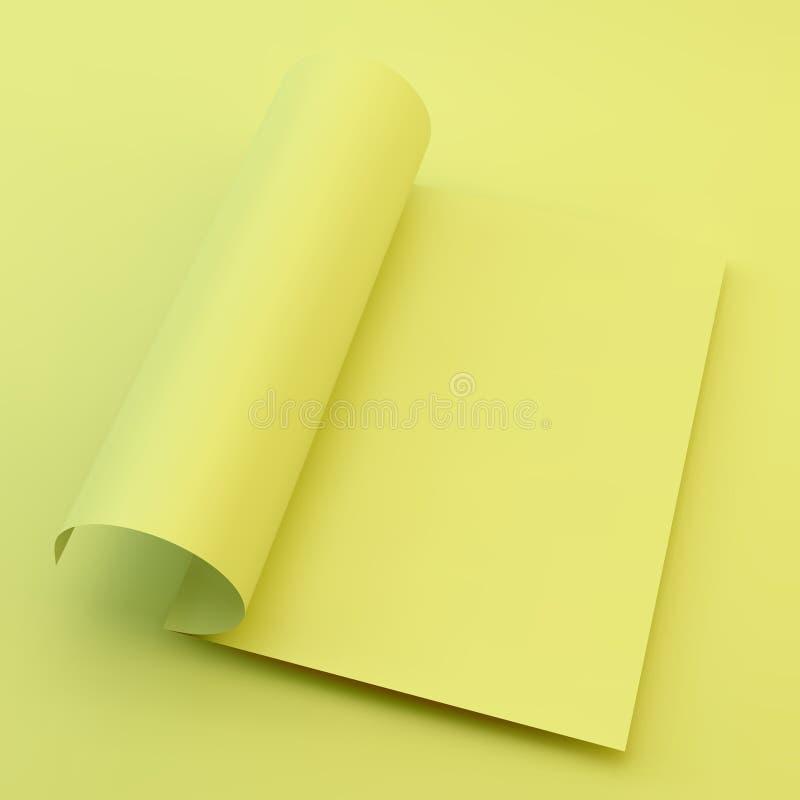 课本、小册子或者笔记本大模型 A4企业空白 皇族释放例证