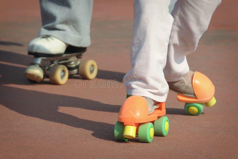 课程溜冰鞋 免版税库存图片