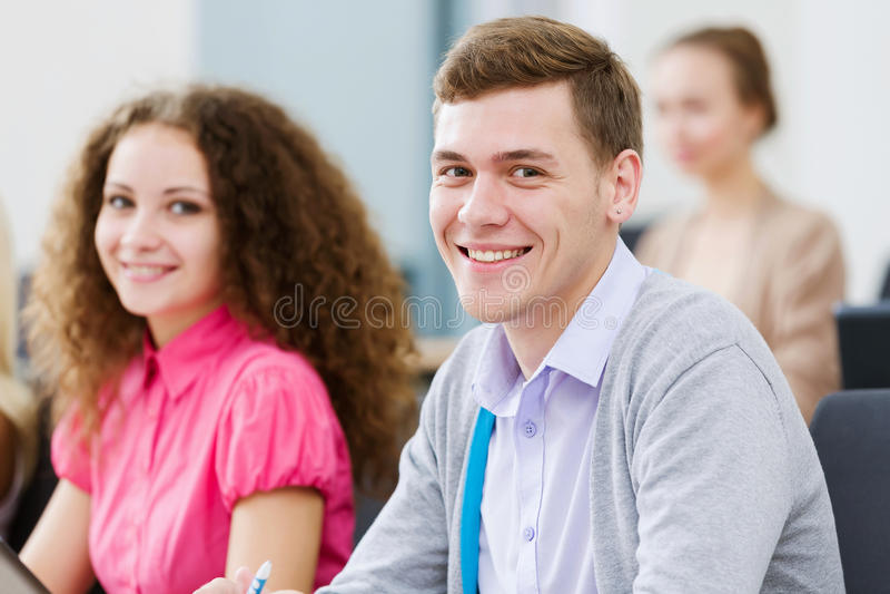 课程的学员 免版税图库摄影