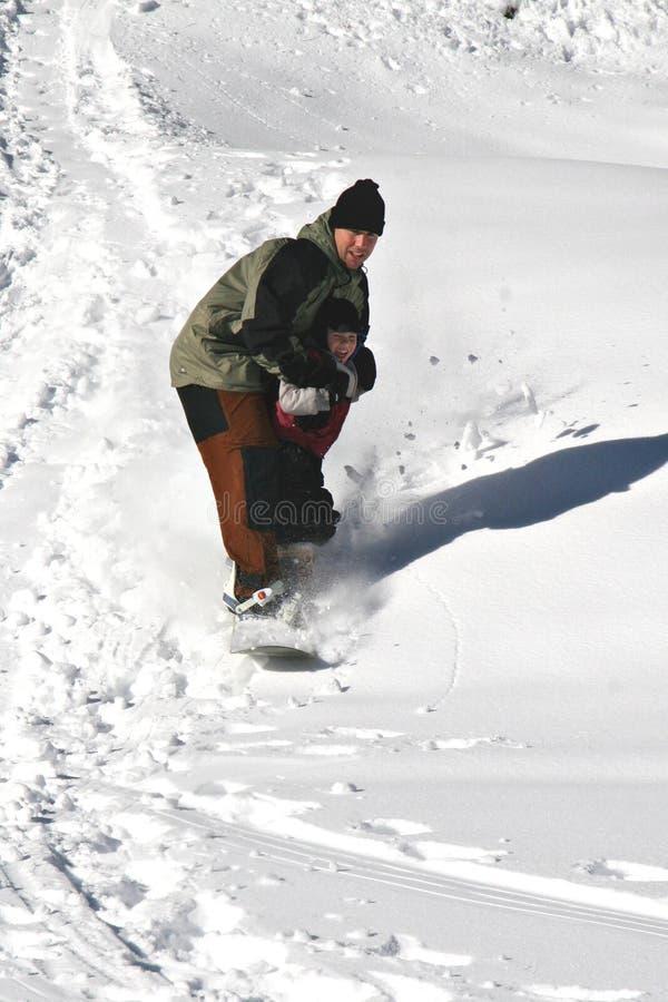 课程雪板运动 库存图片
