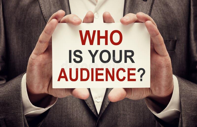谁是您的观众 库存照片