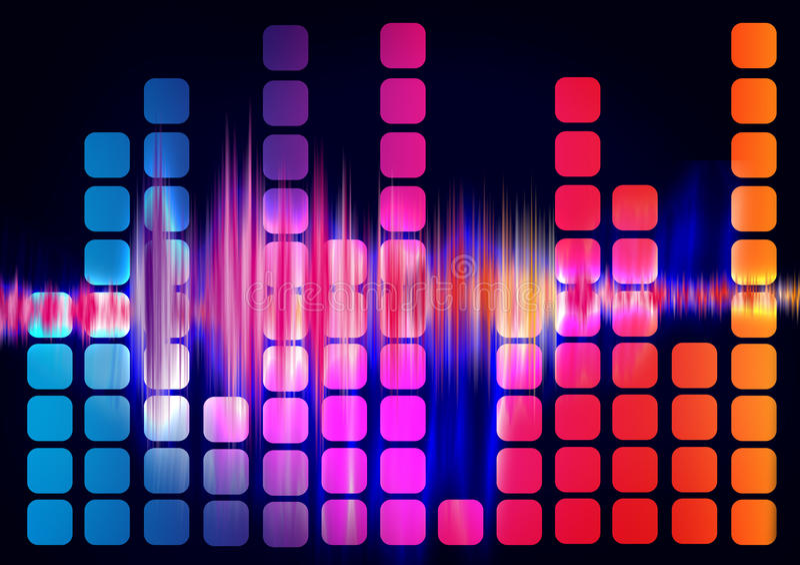 调平器声波 向量例证