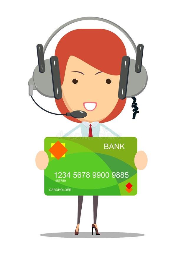 调度员银行顾客服务 向量例证