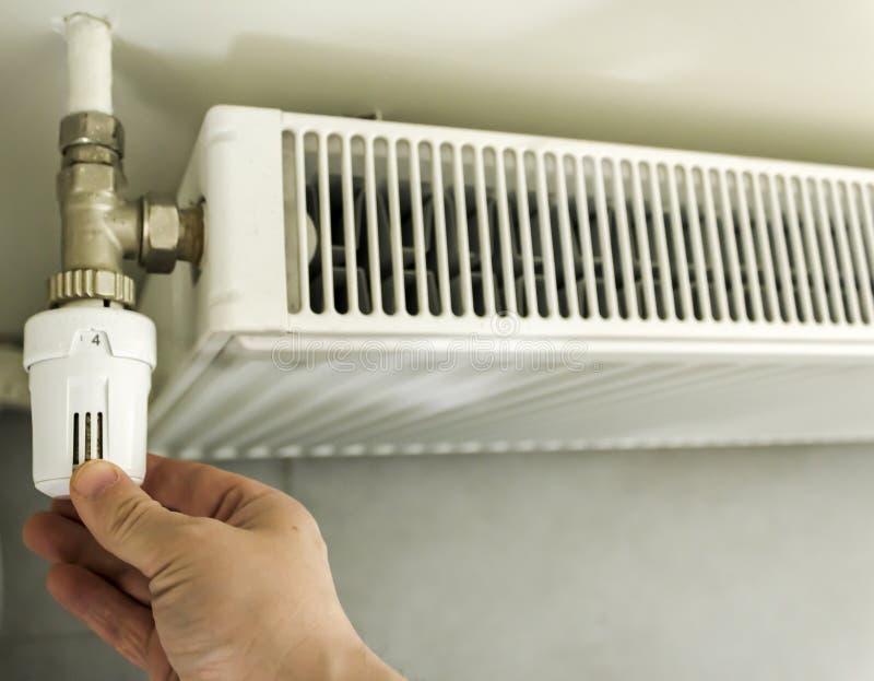 调整加热器节省能量 库存图片