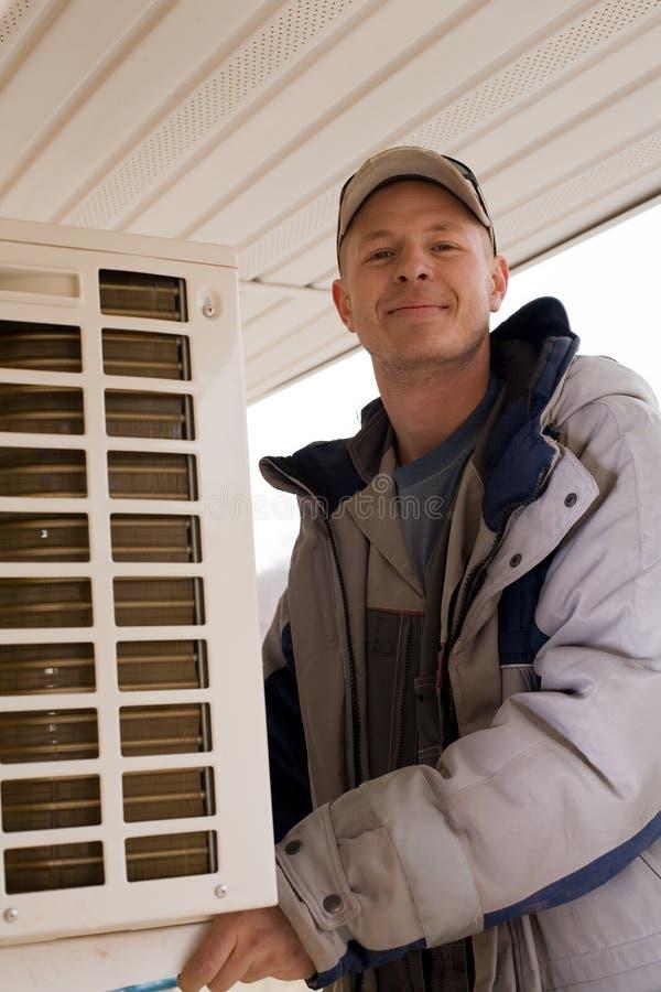 调整器空调器外部新的集部件 免版税库存照片