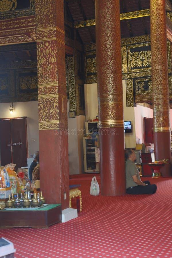 调查佛教寺庙在泰国 库存照片