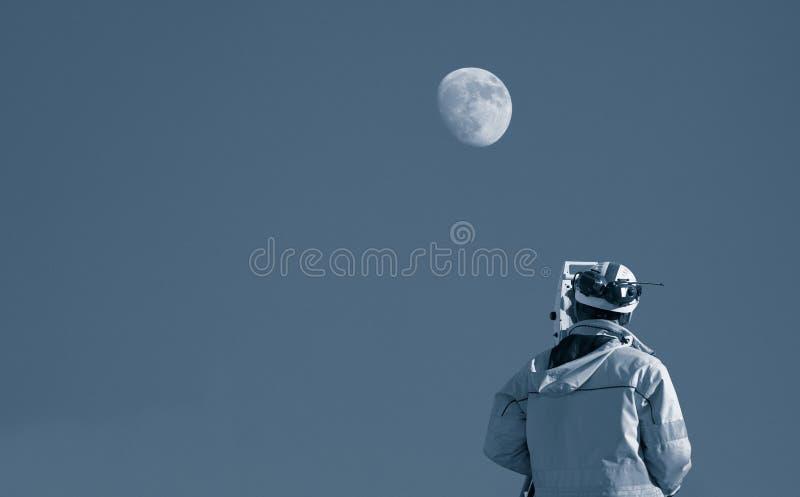 调查月亮 库存照片