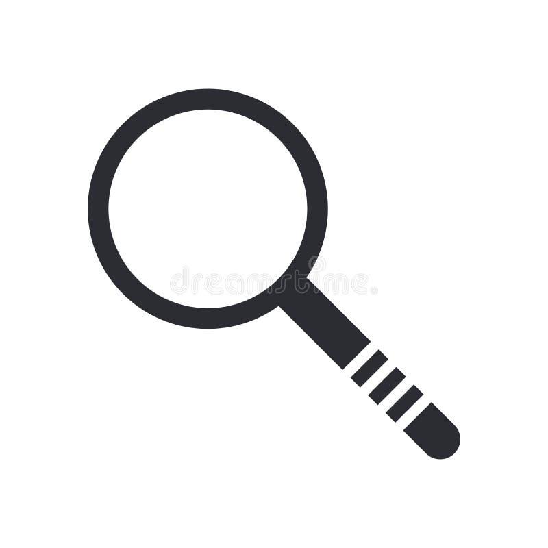 调查象在白色背景和标志隔绝的传染媒介标志,调查商标概念 向量例证