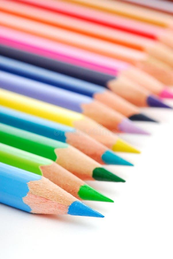 调色板铅笔多样化了 免版税图库摄影