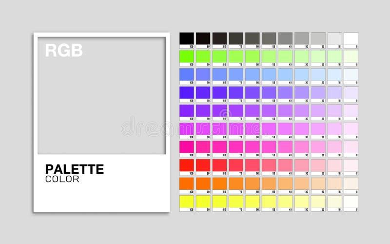 调色板颜色RGB传染媒介 库存例证