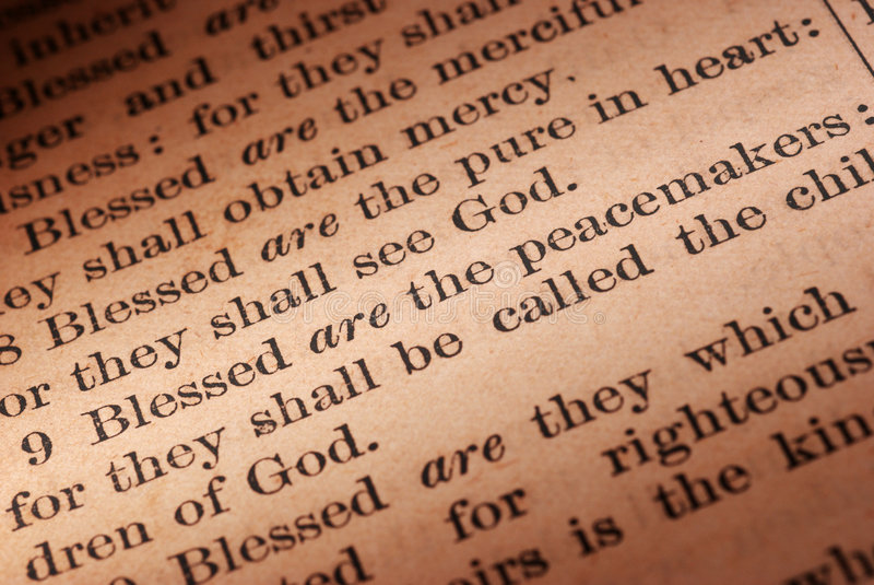 调解人圣经 库存照片
