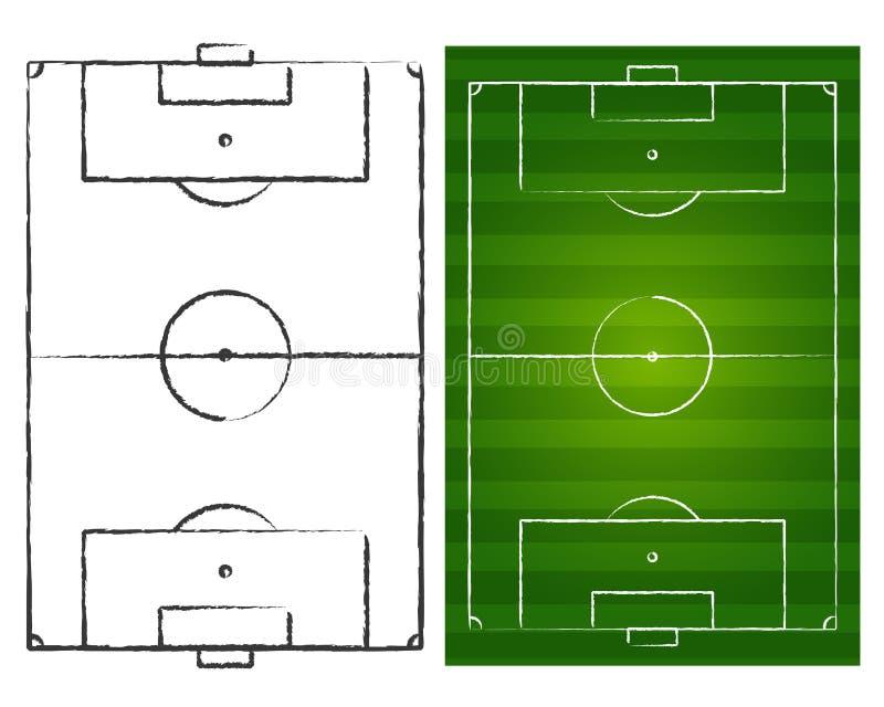调遣足球 向量例证