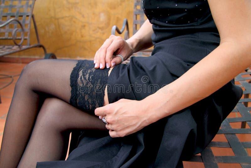 调整长袜的魅力模型 库存图片
