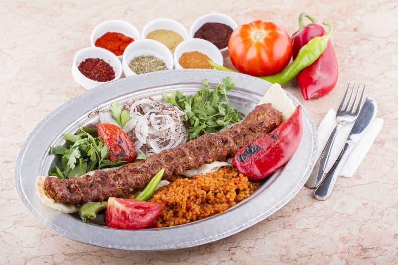 谄媚iskender kebab土耳其 免版税库存图片