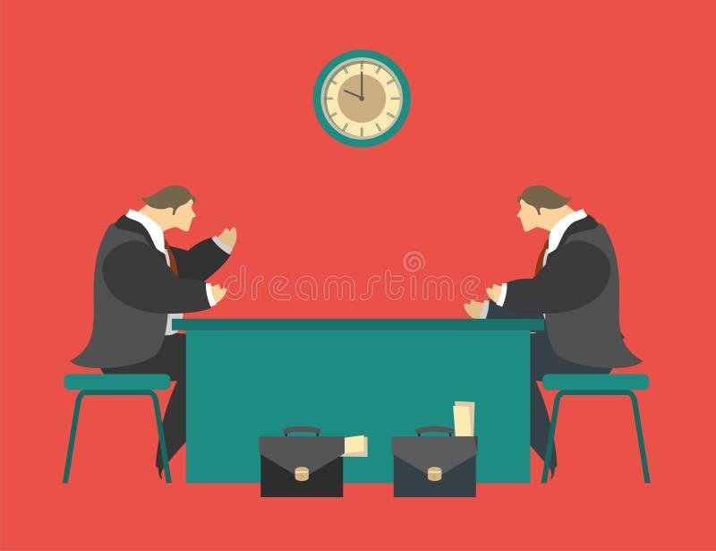 谈判桌 皇族释放例证