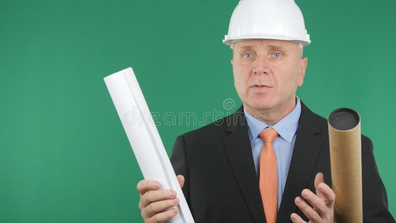 谈工程师的图象在会议技术问题 库存图片