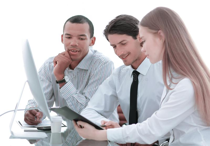 谈论友好的企业的队有为的企业想法 图库摄影