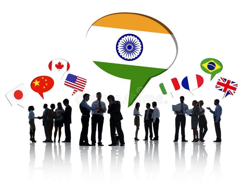 谈论的商人全球企业 免版税图库摄影
